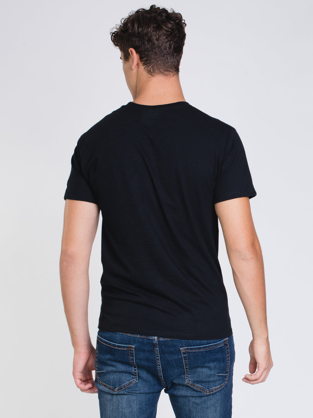 MENS COLOUR POP SHORT SLEEVE T-SHIRT - BLK