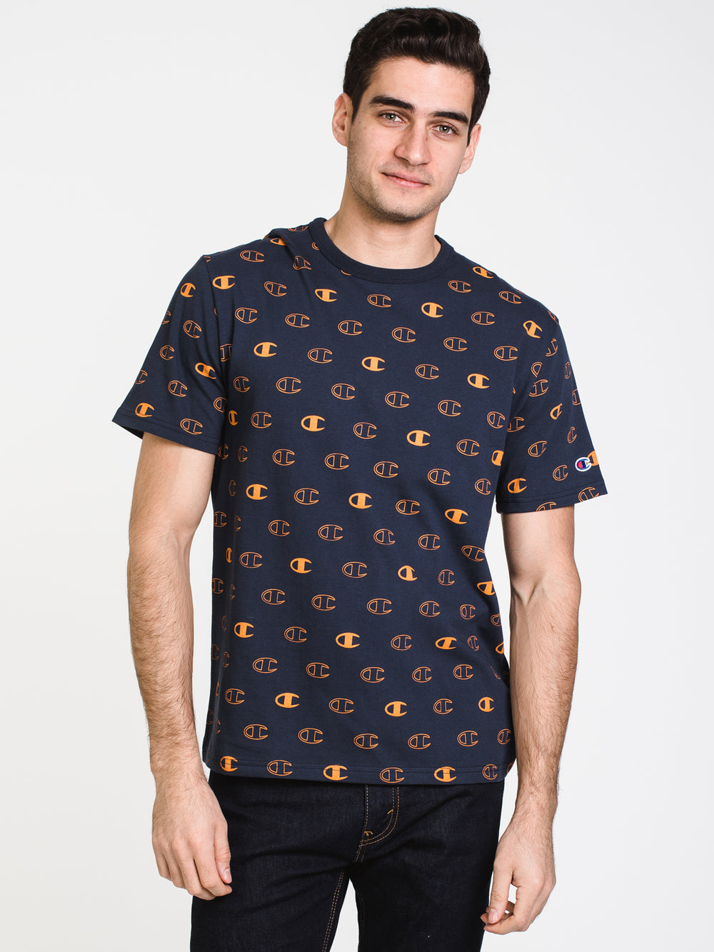 MENS HERITAGE SPACED ALL OVER PRINT SHORT SLEEVE T-NVY