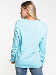 WOMENS THE BOYFRIEND L/S TEE - BLUE