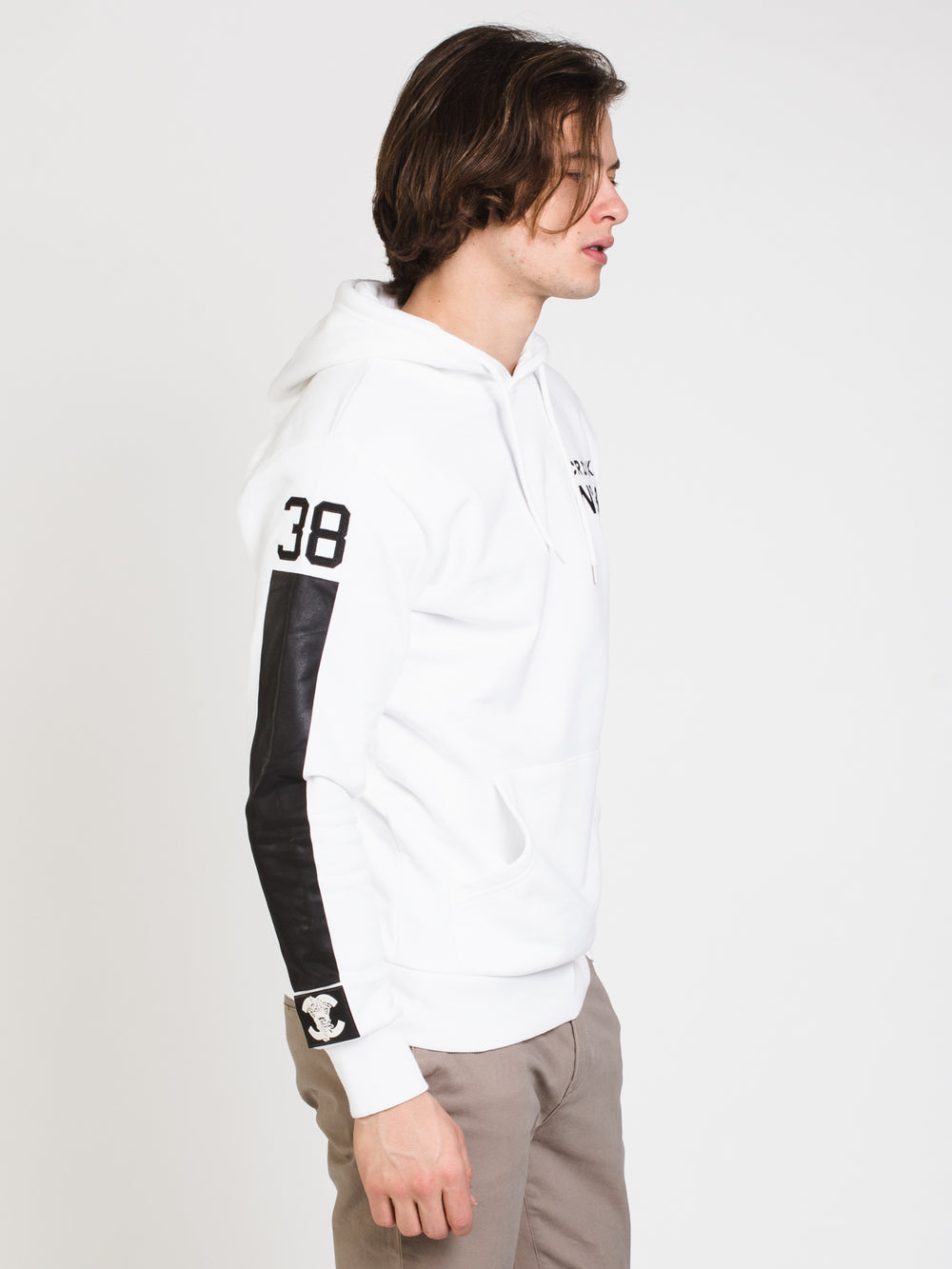 MENS No38 C&C PULLOVER HOOD - WHITE