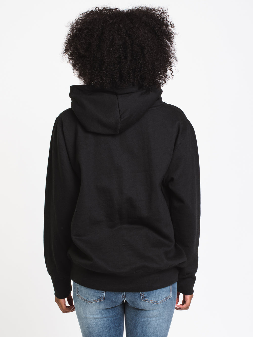 WOMENS SET SAIL PULL OVER HOODIE- BLACK
