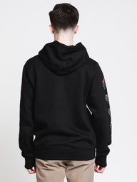 MENS ROSES BLOCK P/O HOOD - BLACK