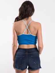 WOMENS JACKIE CROPPED RINGER TANK - CLEARANCE