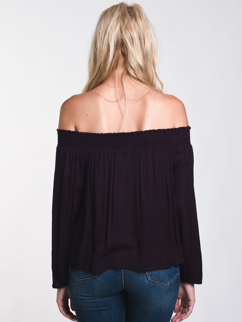 WOMENS CANDICE SOLID OFF THE SHOULDER TOP