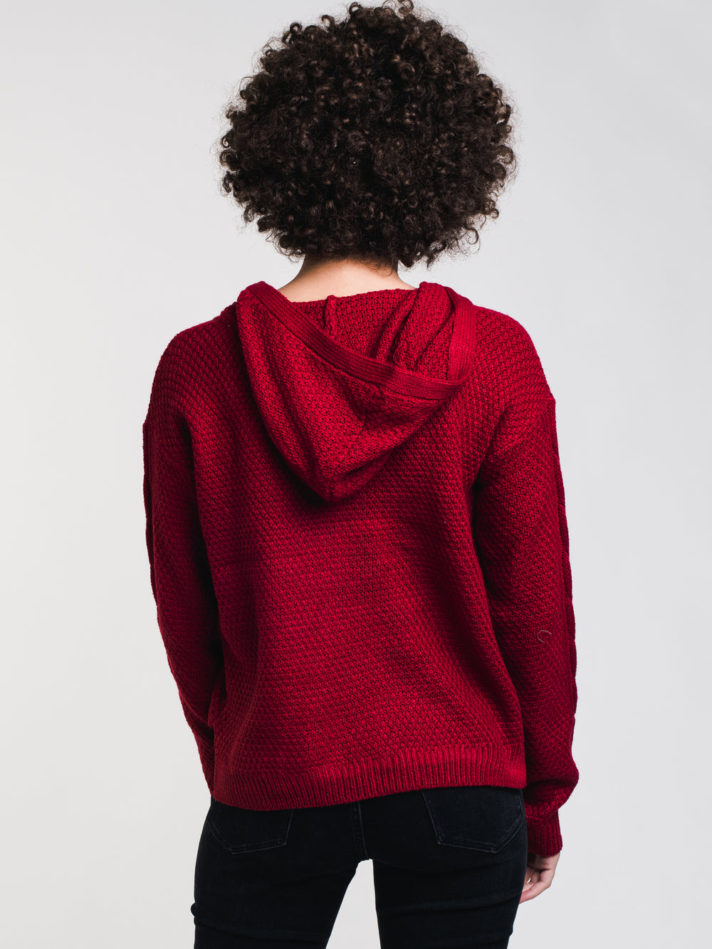 WOMENS ARIANA CABLE HOODIE - CLEARANCE