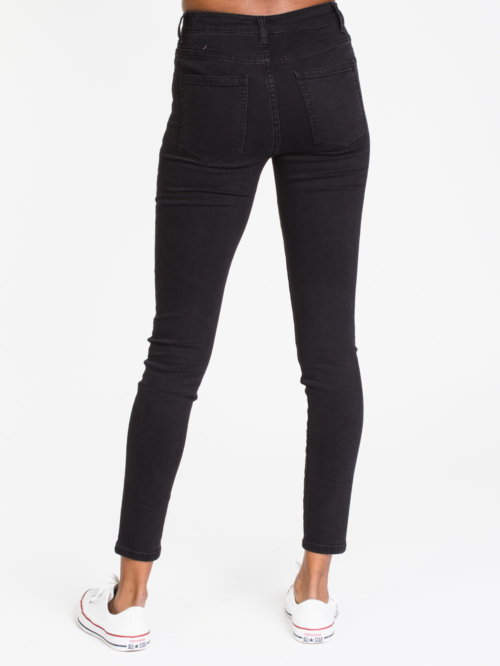WOMENS HI-RISE SKINNY DENIM - BLACK