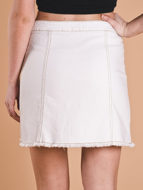 WOMENS ISLA DENIM A LINE SKIRT - CLEARANCE
