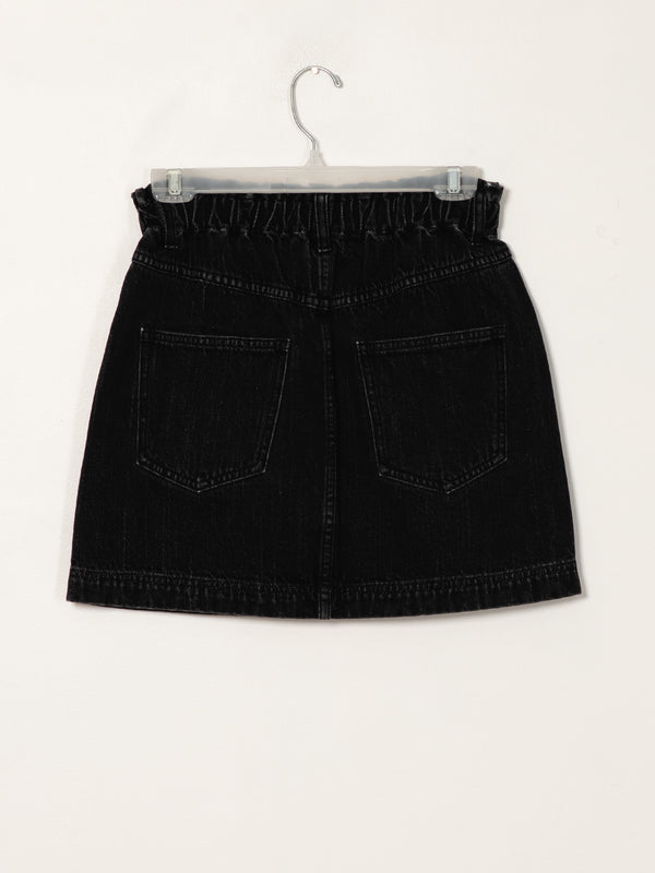 WOMENS PAPERBAG DENIM SKIRT