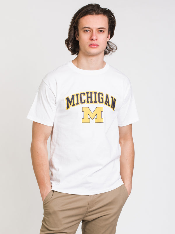 MENS CHM MICHIGAN SHORT SLEEVE TEE - WHITE