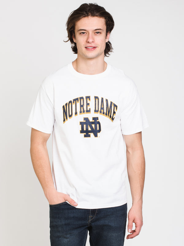 MENS CHM NOTRE DAME SHORT SLEEVE TEE - WHITE