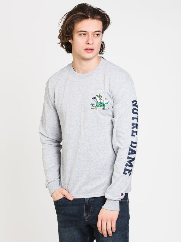 MENS CHM NOTRE DAME LONG SLEEVE TEE - GREY