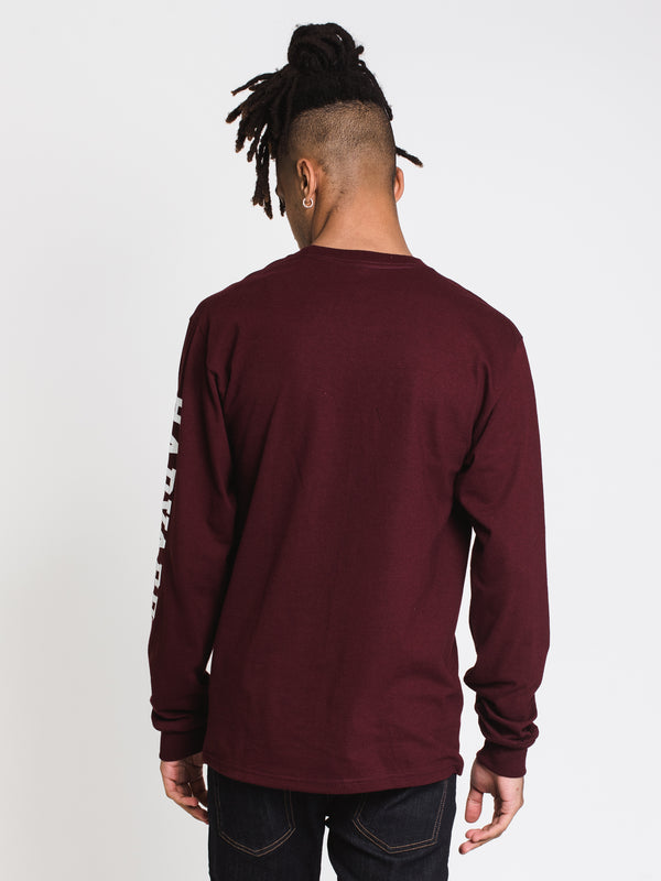 MENS CHM HARVARD LONG SLEEVE TEE - MAROON