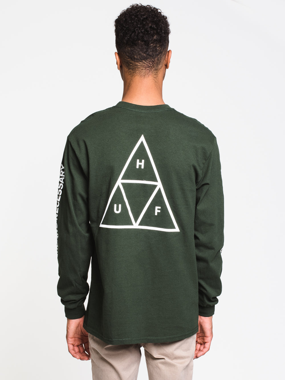 MENS ESSENTIALS TT LONG SLEEVE TEE- FOREST