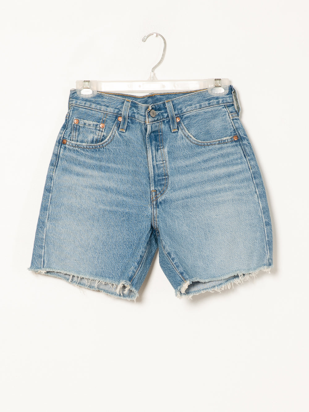 WOMENS 501 MID THIGH SHORT - DENIM