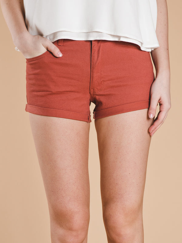 WOMENS EDEN HI RISE CUFF SHORT - CLEARANCE
