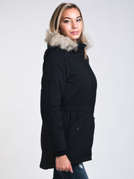 WOMENS STAR PARKA - BLACK - CLEARANCE