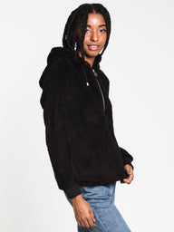 WOMENS ALLY ANORAK JACKET - BLACK