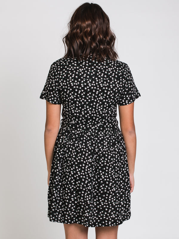 WOMENS T-SHIRT DRESS - BLACK/WHITE