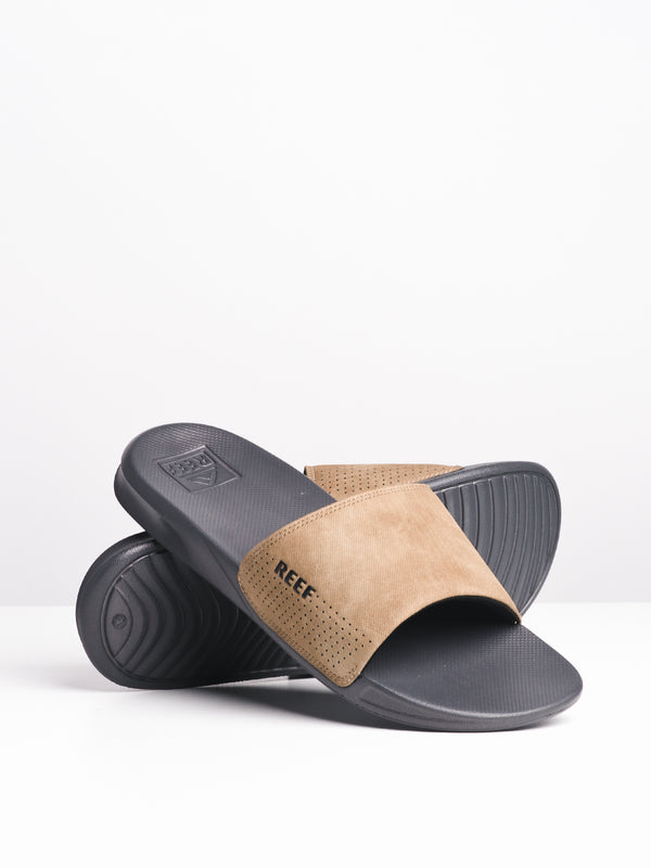 MENS REEF ONE SLIDE - GREY/TAN