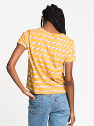 WOMENS SALTED FEELING SHORT SLEEVE TEE - YEL