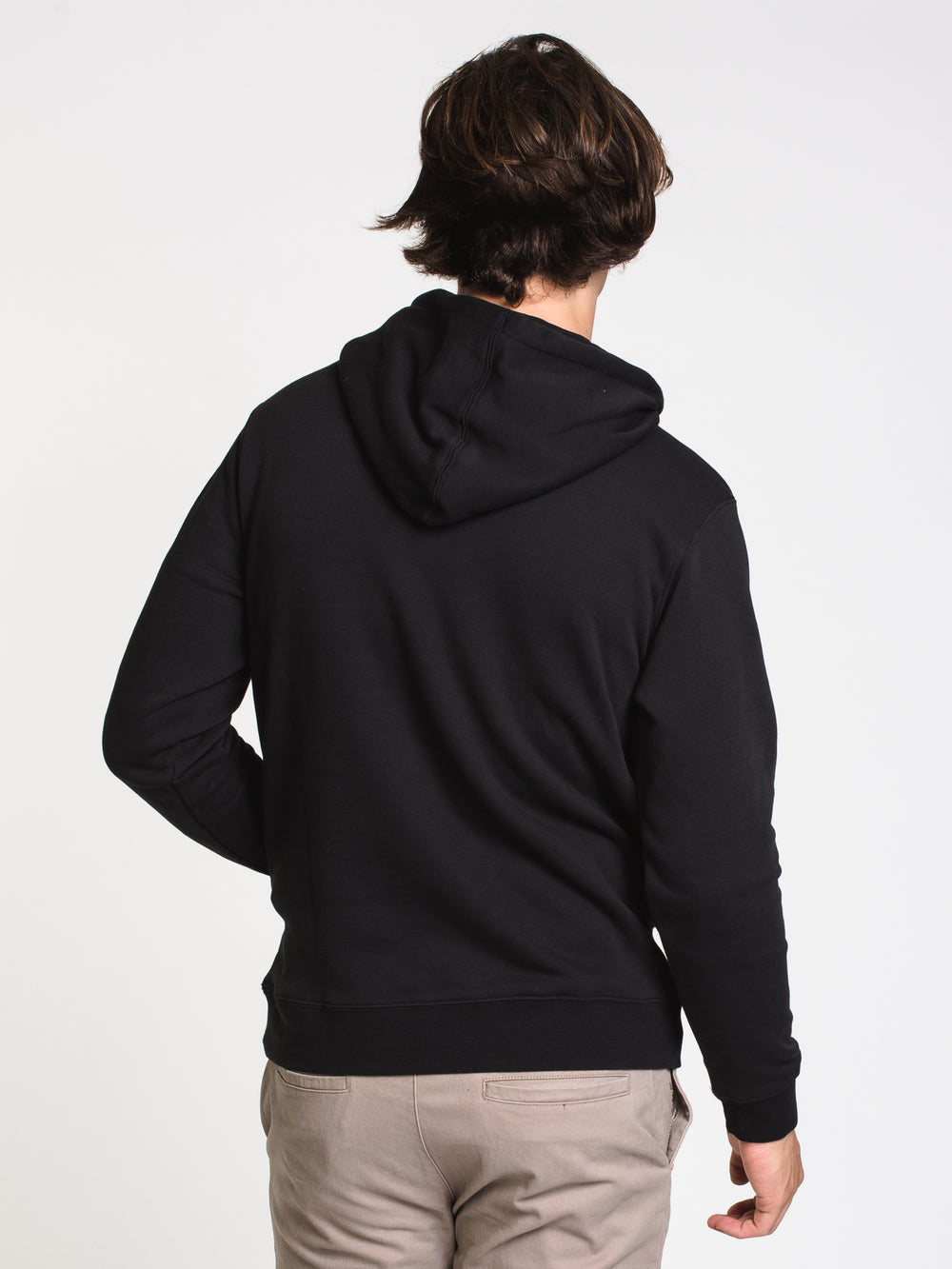 MENS BIG RVCA PULL OVER HOODIE- BLACK