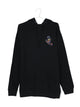 MENS HAND SPLATTER PULL OVER HOODIE - BLACK