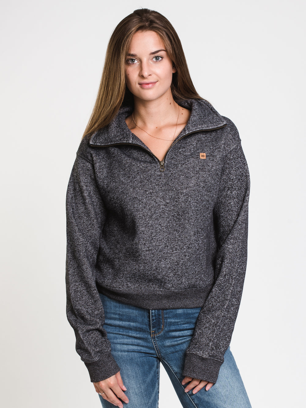 WOMENS BLCKD 1/4 ZIP CORK PTCH - HBK
