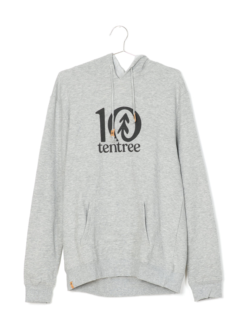 MENS LOGO CLASSIC PULL OVER HOODIE - GREY