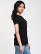WOMENS RECONNECT COTTON SHORT SLEEVE TEE - BLK