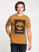 MENS STACK LOGO SHORT SLEEVE T-SHIRT - WHEAT