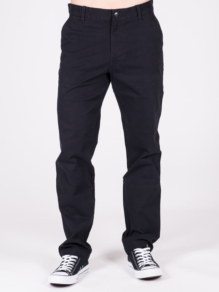 MENS RELAXED CHINO PANTS - BLACK