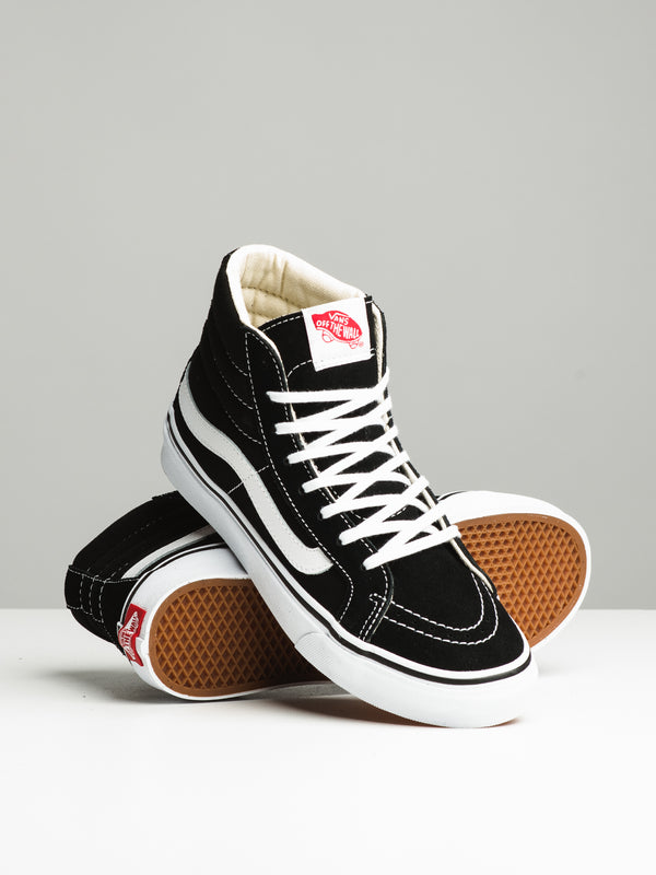 WOMENS SK8 HI SLIM BLACK/WHITE SNEAKERS