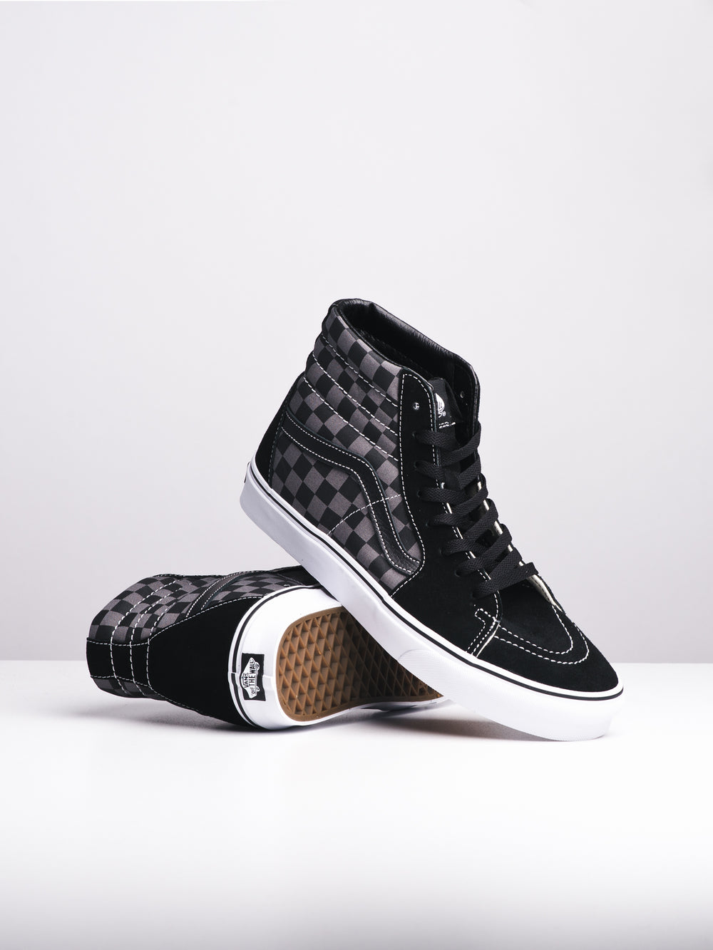 MENS SK8 HI - BLK/PEW CHECKER - CLEARANCE