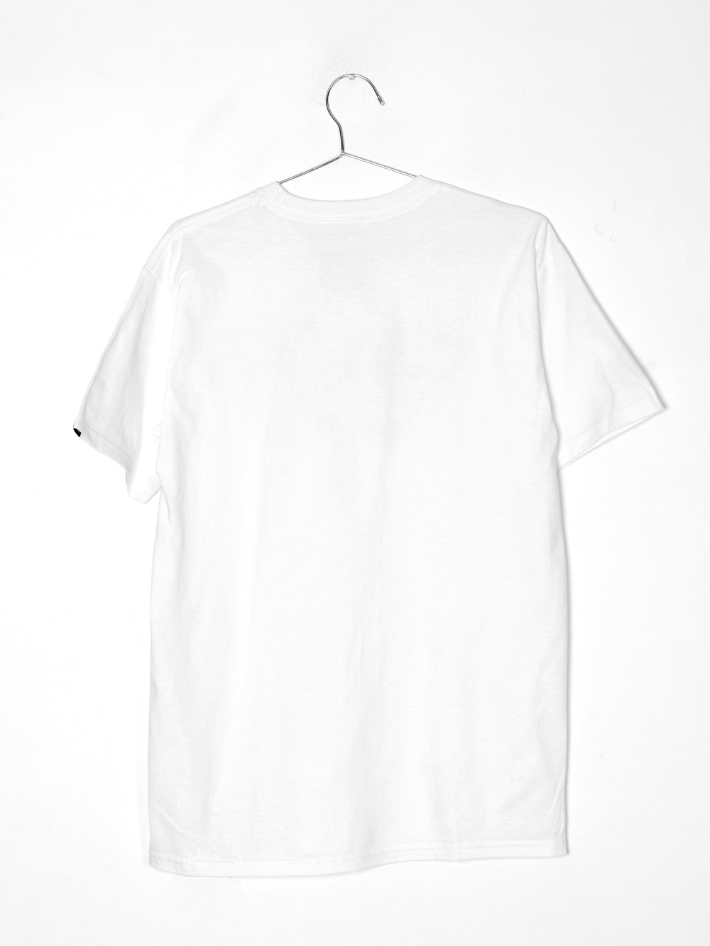 MENS FULL PATCH SHORT SLEEVE T-SHIRT - WHITE