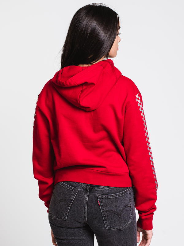 WOMENS SHINE IT CROP PULLOVER HOODIE - RED
