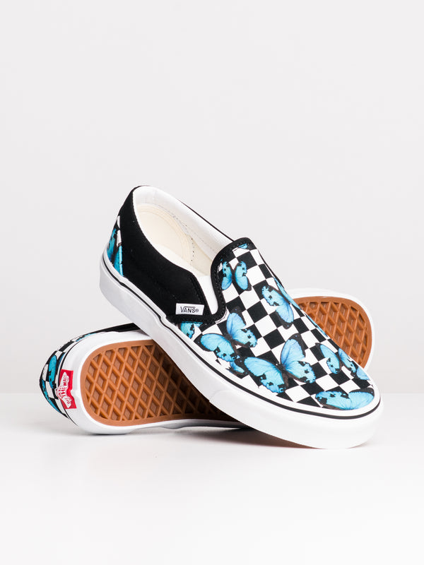 WOMENS CL SLIP ON - BUTTERFLY CHECK