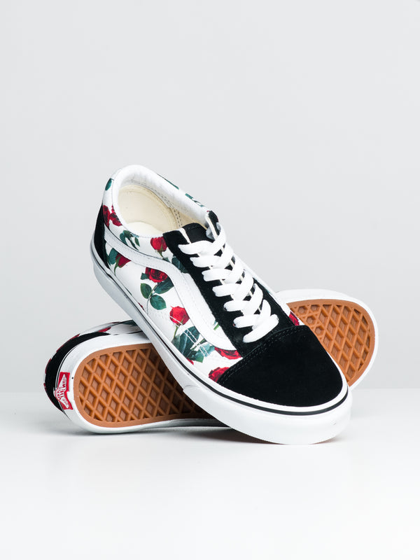WOMENS OLD SKOOL - RED ROSE/WHITE