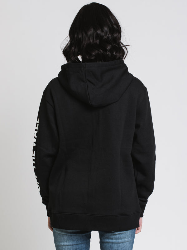 WOMENS MIXED UP FUN F/Z HOODIE - BLACK