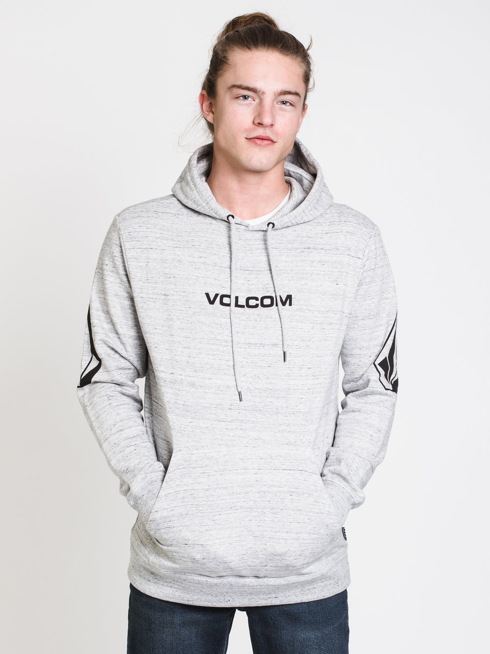 MENS ELBOW STONE PULL OVER HOODIE - STORM