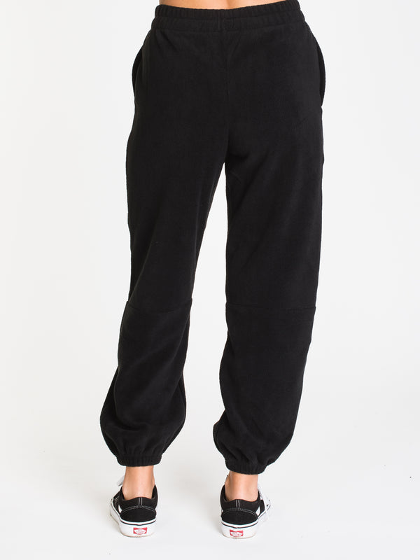 WOMENS UP IN THE NUB FLEECE PNT - BLACK