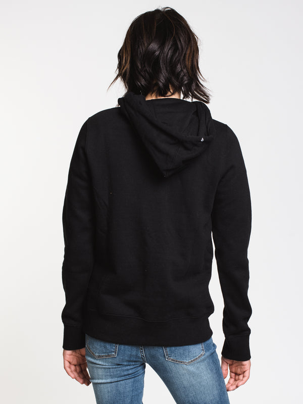 WOMENS VOL STONE PULLOVER HOOD - BLACK