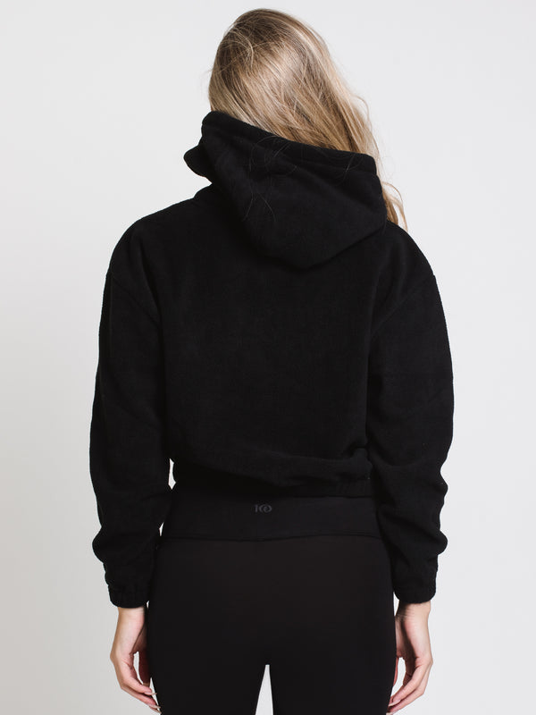 WOMENS UP IN THE NUB PULL OVER HOODIE - BLACK