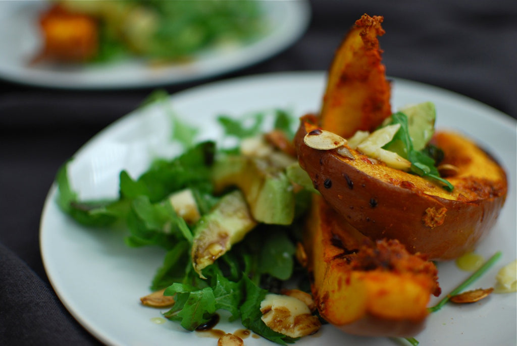 Recipe etc.: Harissa-Pumpkin-Seeds Roasted Pumpkin