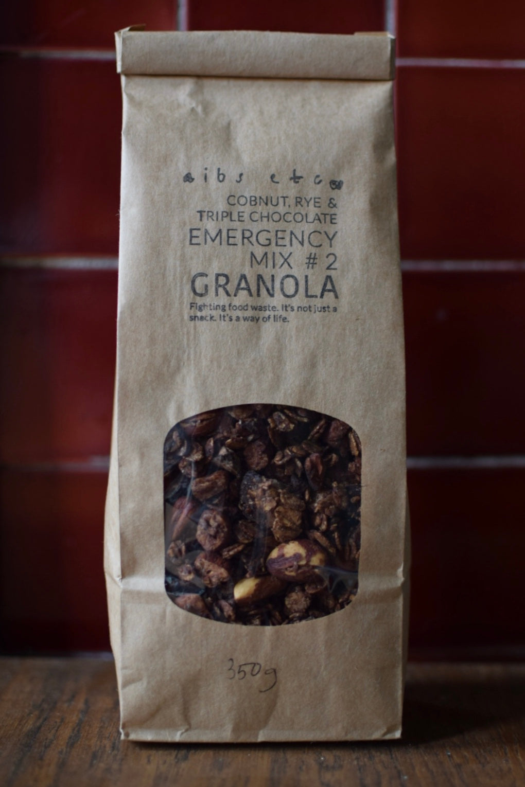 350g Rye, Cobnut & Triple Chocolate Granola, Emergency Mix #2