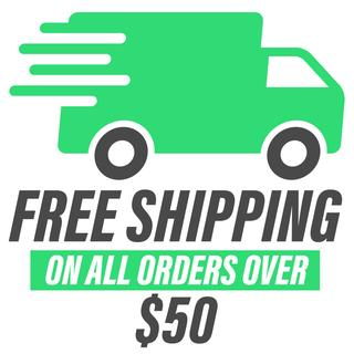 free shipping on all orders over 50$