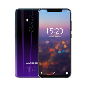 Umidigi Z2 6.2Notch Full Screen Smartphone Android 8.1 6Gb Ram 64Gb Rom Helio P23 Octa Core 16Mp Quad Camera 4G Lte Cell Phones - Z2