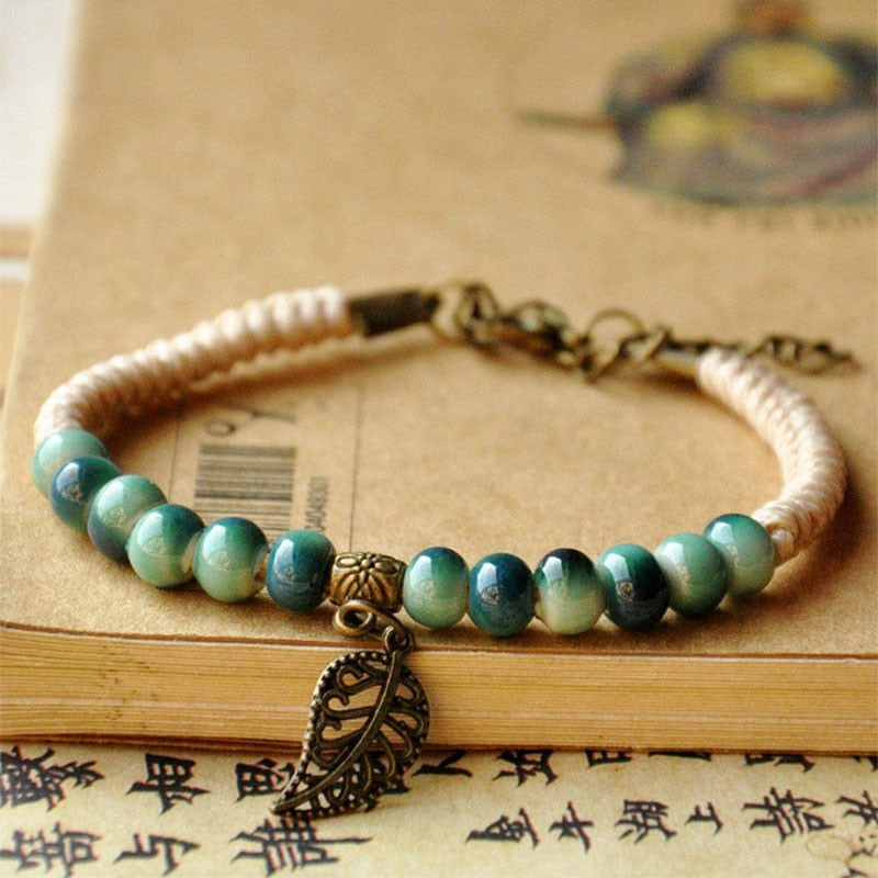 Leaves Bracelets Women Men
