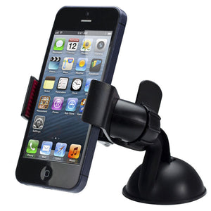 New Arrival Universal Car Windshield Mount Holder Phone Car Holder For Iphone 5S 5C 5G 4S Mp3 Ipod Gps Samsung Cell Phone - Black