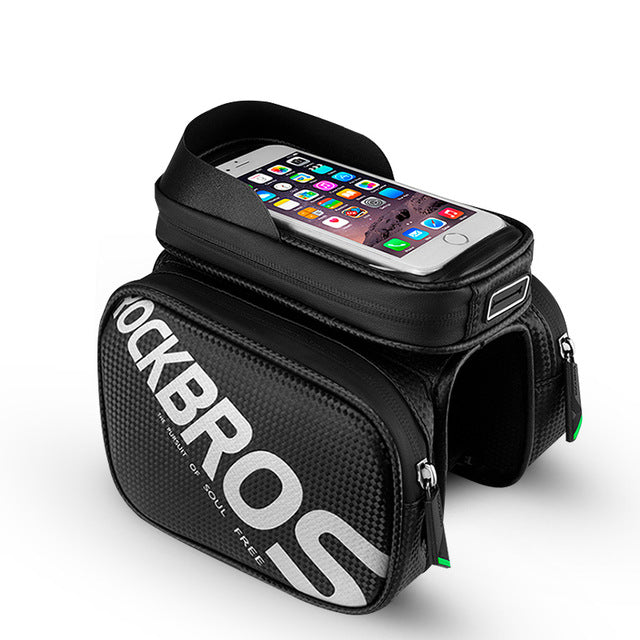 Rockbros Cycling Bike Top Tube Bag Rainproof Mtb Bicycle Frame Front Head Cell Phone Touch Screen Bag Pannier Bike Accessories - Comet / M