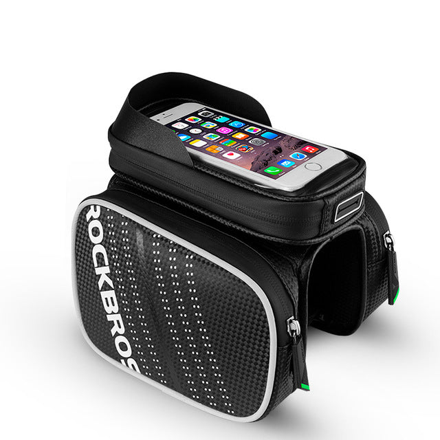 Rockbros Cycling Bike Top Tube Bag Rainproof Mtb Bicycle Frame Front Head Cell Phone Touch Screen Bag Pannier Bike Accessories - Meteor / M